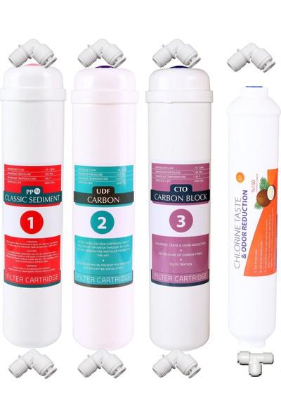 Aqua Kapalı Kasa Su Arıtma Cihazı 4'lü Filtre Seti