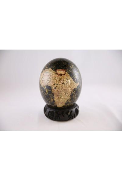 Sencer Dekoratif Deve Kuşu Yumurtası (Siyah)