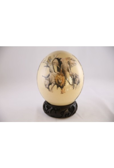 Sencer Dekoratif Deve Kuşu Yumurtası (Krem)