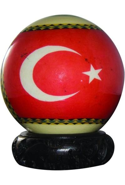 Sencer Dekoratif Deve Kuşu Yumurtası (Türk Bayraklı)