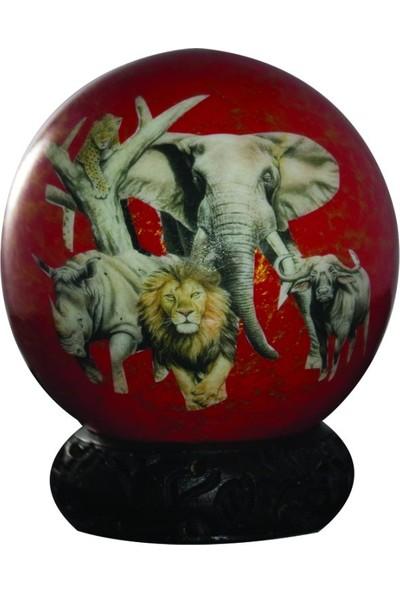 Sencer Dekoratif Deve Kuşu Yumurtası (Kırmızı)
