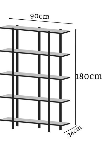Evdemo Mina Metal Kitaplık Beyaz
