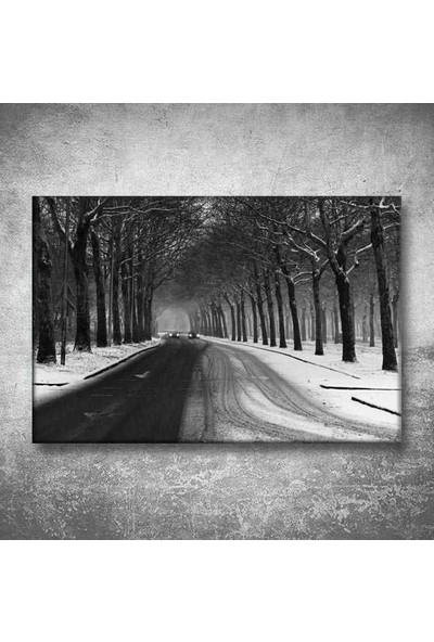 Dekormatik Siyah Beyaz Kanvas Tablo