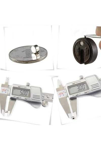 Dünya Magnet Mıknatıs 5 mm x 3 mm Neodyum Mıknatıs (25'li Paket)