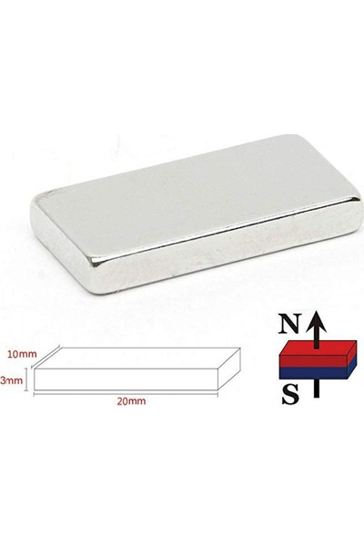 Dünya Magnet Mıknatıs 5 Adet 20 x 10 x 2 cm Süper Güçlü Neodyum Mıknatıs Magnet