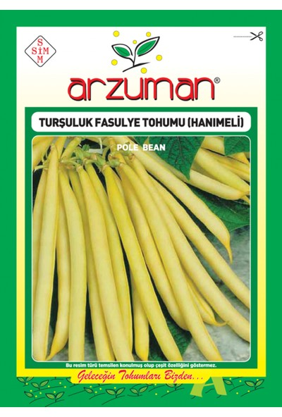 Arzuman Turşuluk Fasulye Tohum Hanımeli 50 gr