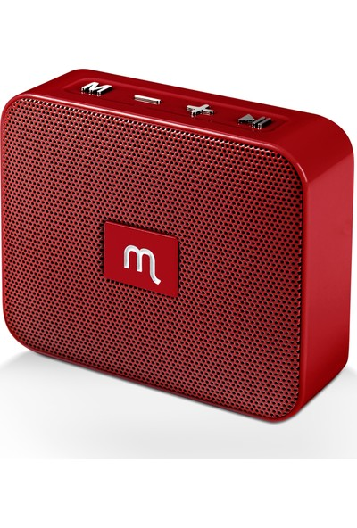 Mojue WS02 Taşınabilir Kablosuz Hoparlör - Kırmızı