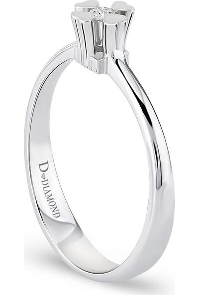 D Diamond 0,03 Karat Pırlanta Tektaş Yüzük