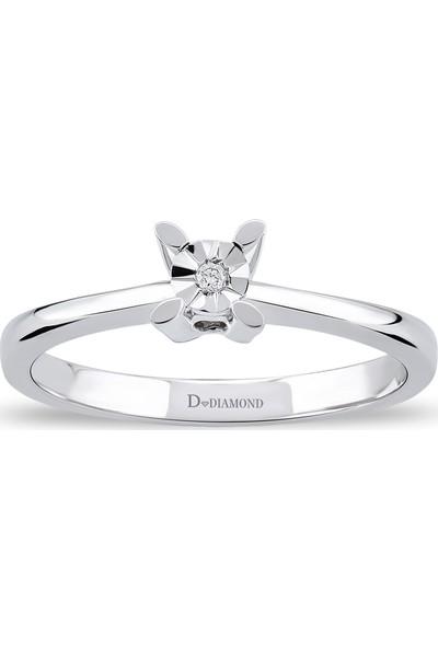 D Diamond 0,01 Karat Pırlanta Tektaş Yüzük