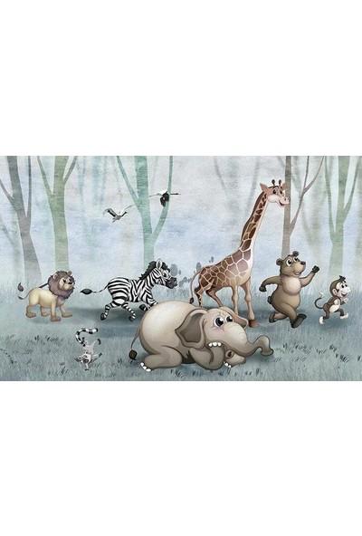 Duvar Kağıdı Marketi 3D Hayvanlar Alemi Duvar Kağıdı( 500 x 315 Cm)