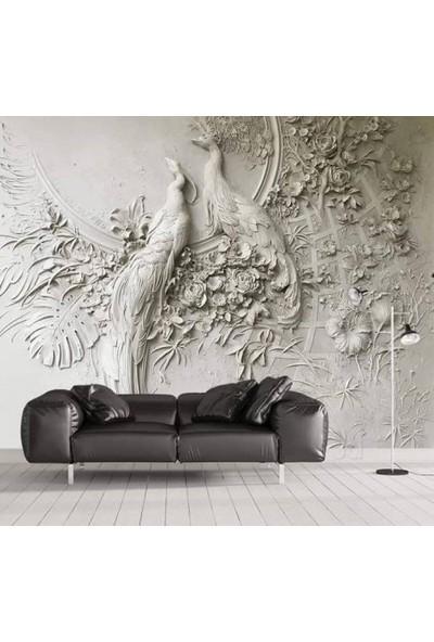 Duvar Kağıdı Marketi 3D Papağan Temalı Duvar Posteri(500 x 315 Cm)