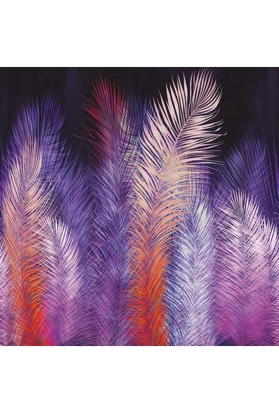 Duvar Kağıdı Marketi 3D Renkli Yapraklı Duvar Kağıdı( 440 x 275)