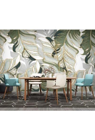 Duvar Kağıdı Marketi 3D Tropikal Yeşil Yapraklı Duvar Kağıdı