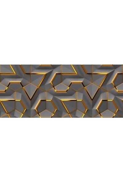 Duvar Kağıdı Marketi Geometrik 3D Efektli Duvar Kagidi( 500 x 315 Cm)