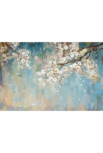 Duvar Kağıdı Marketi Yağlı Boya Çiçek Duvar Kağıdı( 440 x 275 Cm)