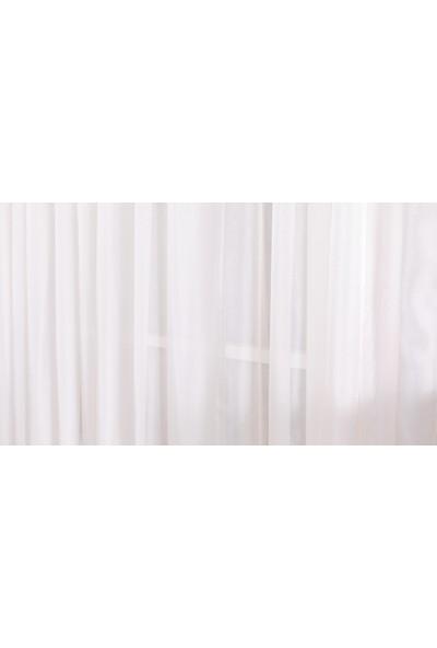 Gauze Fabric Design Sade Eteği Kurşunlu Uçuk Pembe Tül Perde 100 x 260 Orta Pile