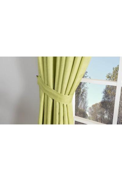 Gauze Fabric Design Vivaldi Fıstık Yeşili Fonluk Perde 50 x 260 Orta Pile