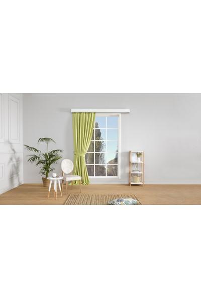 Gauze Fabric Design Vivaldi Fıstık Yeşili Fonluk Perde 50 x 260 Pilesiz