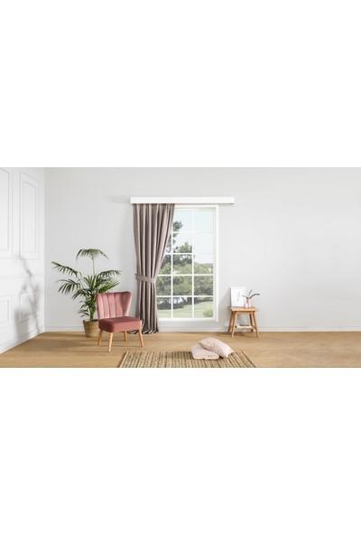 Gauze Fabric Design Vivaldi Vizon Fonluk Perde 50 x 260 Orta Pile