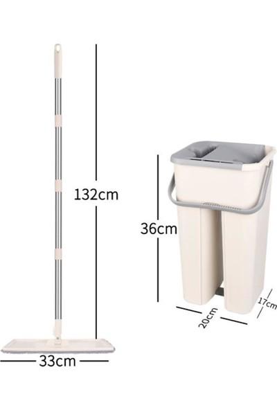Winbox Sihirli Yıkama ve Sıkma Mekanizmalı Mikrofiber Mop Kova Seti
