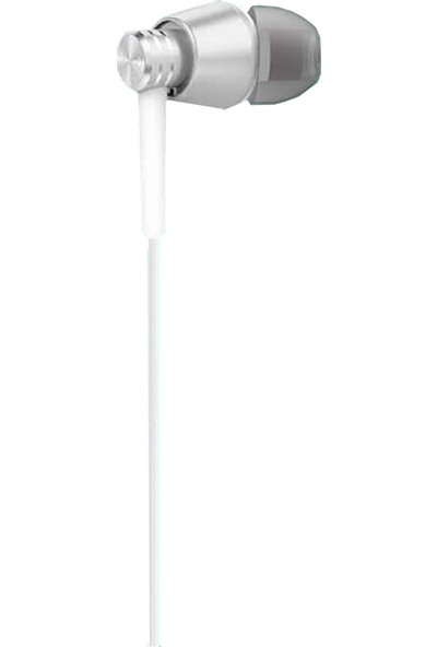 Xipin C09 3.5 mm Fermuar Çantalı Stereo Kulaklık - Gümüş