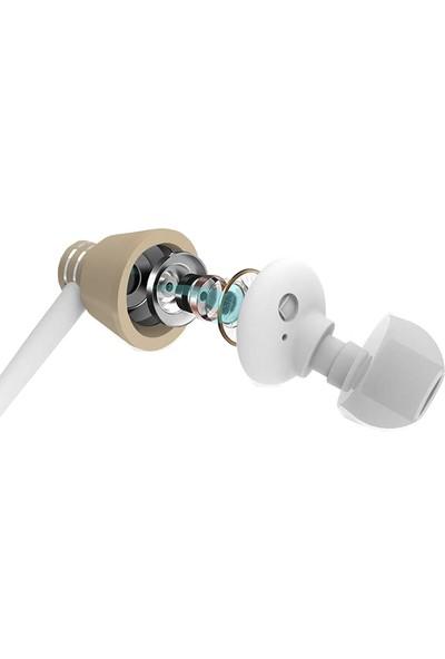 Xipin C09 3.5 mm Fermuar Çantalı Stereo Kulaklık - Gold