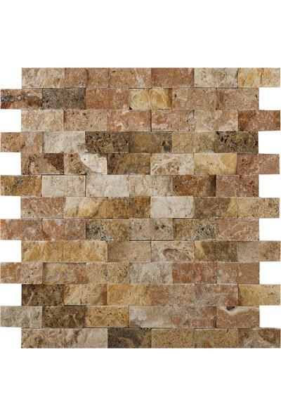 Natural Patlatma Taş Scabos 2,5 x 5 cm