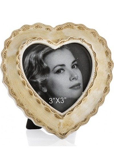 Porio Krem Kalp Şekilli Çerçeve 8 x 8