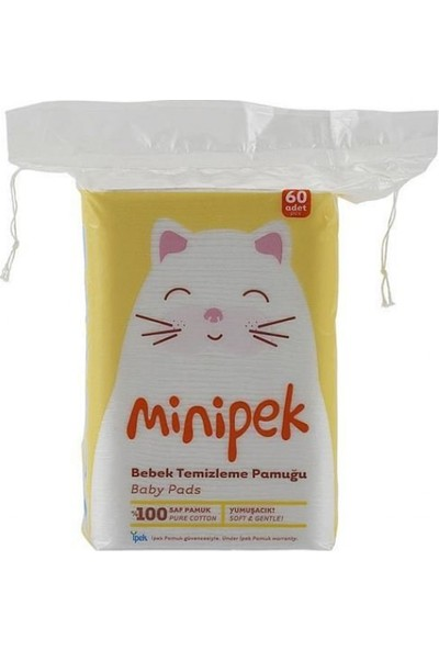 İpek Minipek Bebek Temizleme Pamuğu 60'Lı 6 Paket