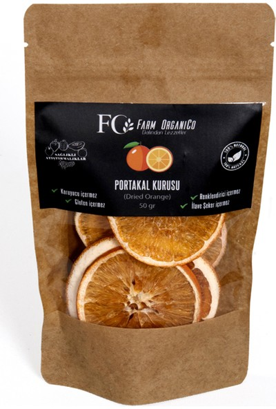 Farm Organico Portakal Kurusu - Kurutulmuş Portakal - 50 gr