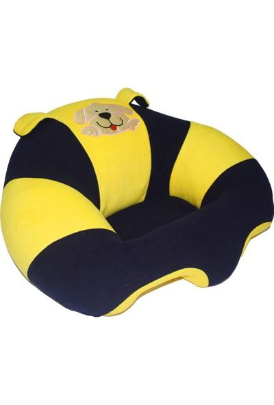Hakan Bebek Oturma Minderi - Sarı Lacivert