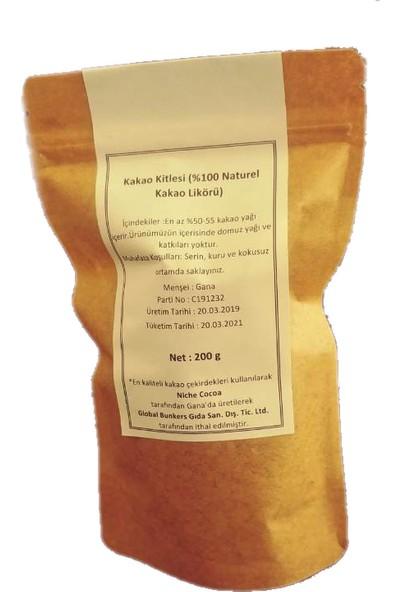 Global Doğal Ham Kakao Kitlesi 200 gr