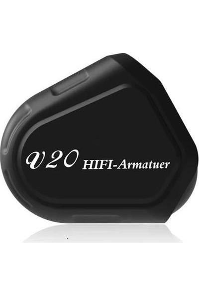 TRN V20 DD+BA Hibrit Mikrofonlu Stereo Kulakiçi Hi-Fi Kulaklık