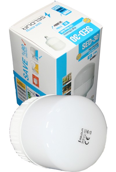 Seldur 30W Büyük Boy Torch LED Ampul E27 Duy