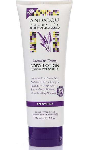 Andalou Lavender Thyme Refreshing Body Lotion/ Lavanta Aromalı Tazeleyici Vegan Vücut Losyonu 236 ml