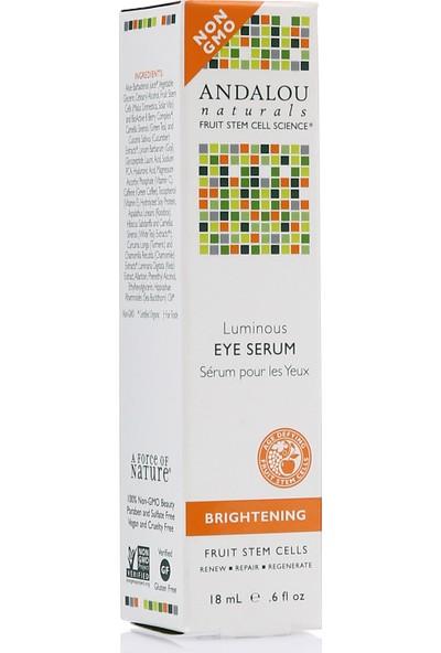 Andalou Luminous Eye Serum 18 ml / Aydınlatıcı Vegan Göz Altı Serumu-Normal ve Karma Ciltler Için