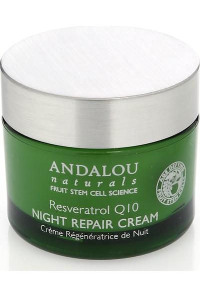 Resveratrol Q10 Yaşlanma Karşıtı Nemlendirici Vegan Gece Kremi 50 Ml/andalou Resveratrol Q10 Night Repair Cream