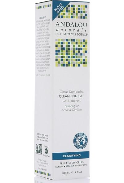 Andalou Citrus Kombucha Cleansing Gel / Narenciye ve Kombu Çayı Aromalı Vegan Yüz Temizleme Jeli 178 ml