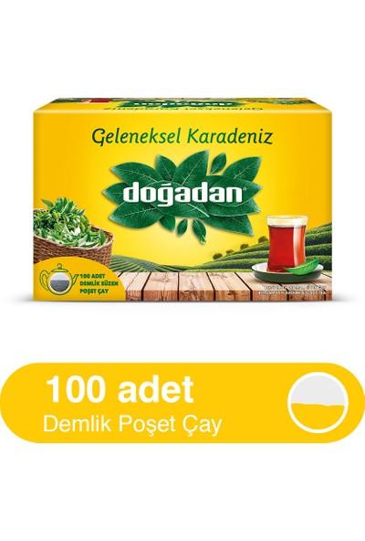 Doğadan Geleneksel Karadeniz Bergamot Aromalı 100'lük Demlik Poşet Çay (320 gr)