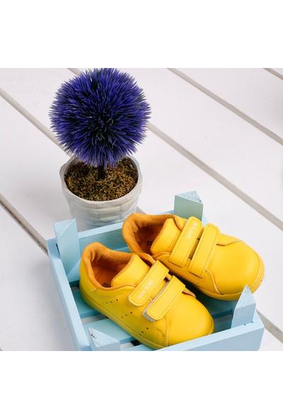 Sanbe 129P5401 Günlük Cırtlı Erkek Çocuk Spor Ayakkabı Sarı