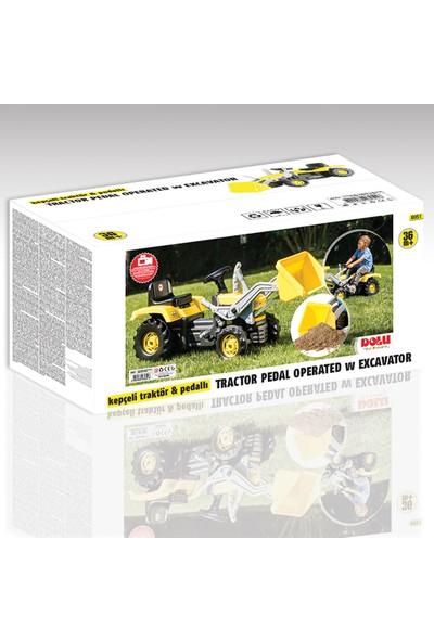 Dolu Kepçeli Traktör Sarı (Pedallı)