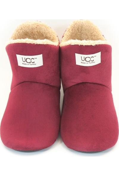 So-Cool Kadın Panduf Ev Botu Ev Ayakkabısı (Bordo-38)