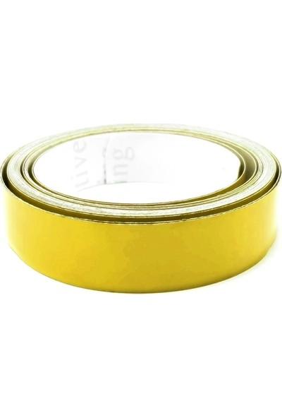 TveT 2 cm x 2,5 mt Sarı Reflektör Şerit T036245