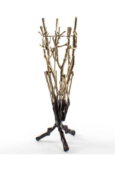 Euro Flora Dekoratif Ayaklı Mumluk Metal