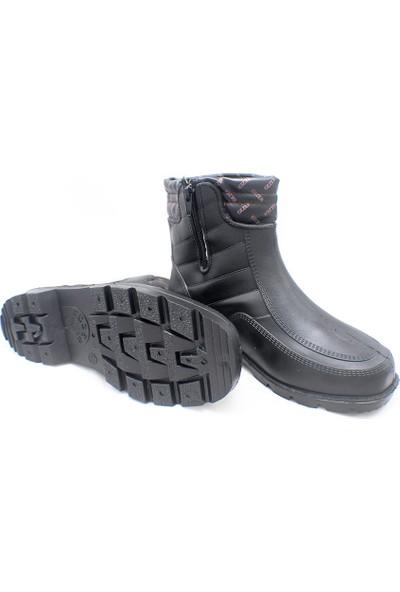 Gezer Bot Çizme Su Geçirmez Merdane Siyah No: 45