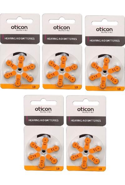 Oticon 13 Numara İşitme Cihazı Pili 5 Paket 30 Adet