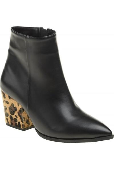 David Jones Kadın Bot Siyah - Leopar
