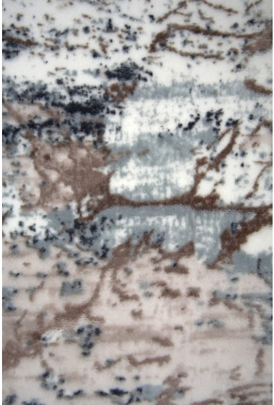 Diji Dekor Ege Mavi Oval Saçaklı Halı Battaniye Yüzey Yıkanabilir Antibakteriyel Antistatik 80 x 50 cm