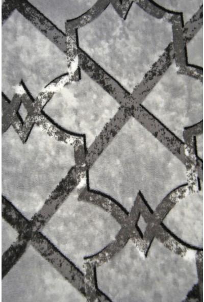 Diji Dekor Otto Gri Kesme Halı Battaniye Yüzey Kaymaz Yıkanabilir Antibakteriyel Antistatik 80 x 150 cm