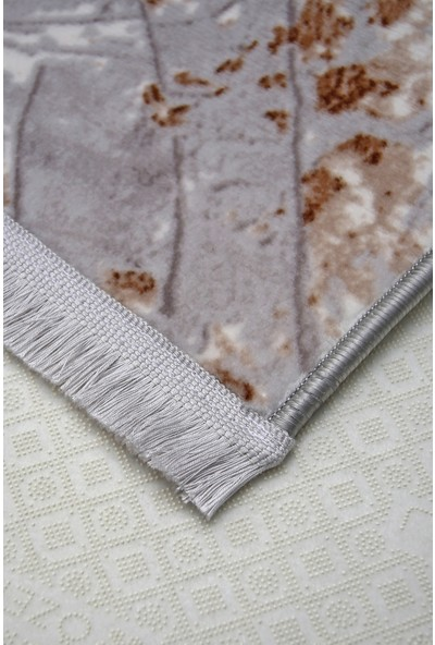 Diji Dekor Bora Vizon Saçaklı Halı Battaniye Yüzey Yıkanabilir Antibakteriyel Antistatik 80 x 50 cm